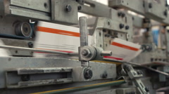 Printing machine at work 2 Stock Footage