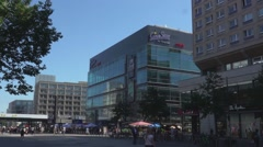 Cinestar Cubix movie theater at Berlin Alexanderplatz Stock Footage