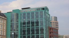 Modern expensive Abion Hotel in Berlin Stock Footage