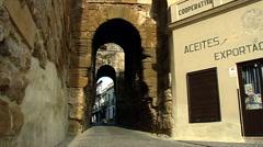 Carmona Castle Main Entrance close up Stock Footage