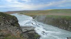 Gullfoss waterfall in Iceland Stock Footage