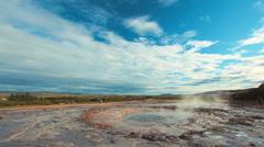 Strokkur Geyser in Iceland Stock Footage