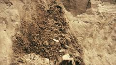 Sand landslide, slow motion Stock Footage