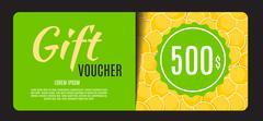 Gift Voucher Template Vector Illustration for Your Business Stock Illustration
