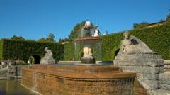 Baden Baden, at the fountain in the rose garden Stock Footage