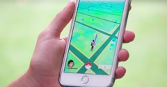 Playing Pokemon Go on New York City Street 4K Stock Video Stock Footage
