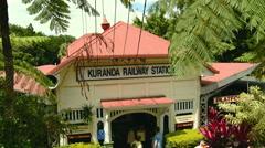 Kuranda Scenic Railway Station Stock Footage