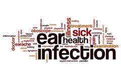 Ear infection word cloud Stock Illustration