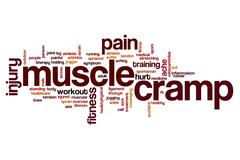 Muscle cramp word cloud Stock Illustration