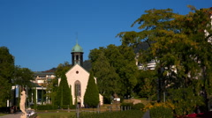 Baden-Baden, a small Church in the city Stock Footage
