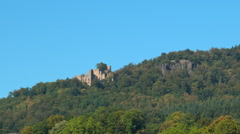 Baden Baden the castle on the hill Stock Footage