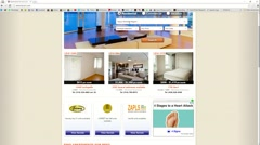 Apartment Rental Search Website Browsing Time Lapse Screen Capture Stock Footage
