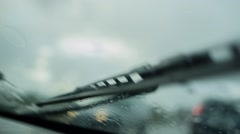 Raindrops on the Windshield Stock Footage