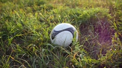 Feet hit a soccer ball close up Stock Footage