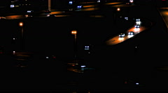 Cars on Road / Cars Traffic / Night City Stock Footage