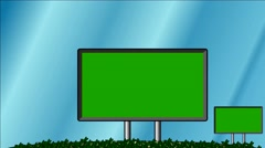 Billboards move - Chroma key screens - Background for video editing Stock Footage