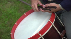 Civil War soldier plays the drum Stock Footage