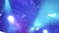 Soffits in the club at the concert, 4k Stock Footage