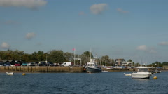Local Boat Moorings and Orford Quay, Orford Stock Footage
