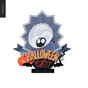Halloween Party composed sign Stock Illustration