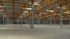 Large Empty Shopfloor Space Stock Footage