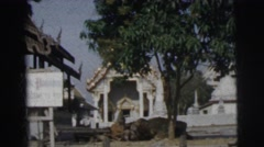 1962: a warehouse beside a water area is seen BANGKOK, THAILAND Stock Footage
