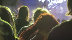 Group of people dancing on the dance floor at the concert, 4k Stock Footage