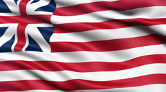 Seamless loop of the Grand Union flag. Stock Footage