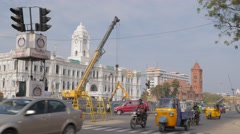 Traffic at Ripon building,Chennai,India Stock Footage