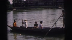 1962: my paddleboat trip along the river BANGKOK, THAILAND Stock Footage