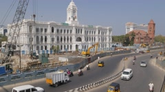 Ripon building with traffic,Chennai,India Stock Footage