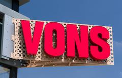 Vons Grocery Store Sign and Logo. Stock Photos