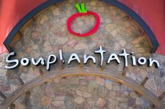 Souplantation Restaurant Exterior Sign and Logo Stock Photos