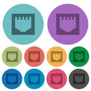 Color ethernet connector flat icons Stock Illustration