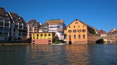 Strasbourg, river, petite France Stock Footage