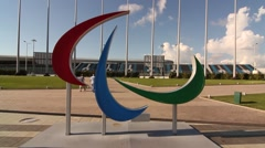 Paralympic symbol, Russia Stock Footage
