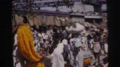 1962: asians gather for festival BANGKOK, THAILAND Stock Footage