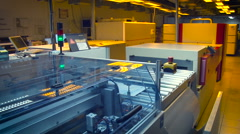 Printing Equipment. Working Process. Stock Footage