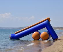 Inflatable slides to slide into the water Kuvituskuvat