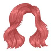Vector woman hairstyle silhouette Stock Illustration