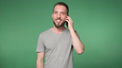 Man talking on the phone Stock Footage