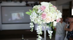 Bouquet of beautiful flowers in light colors Stock Footage