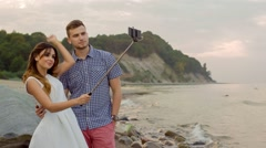 A Young Couple Making Self Stock Footage