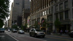 Manhattan sunset light traffic street panorama 4k new york usa Stock Footage