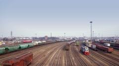 Marshalling Yard Stock Footage