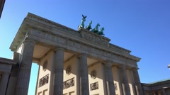 Famous Brandenburg Gate in Berlin called Brandenburger Tor Stock Footage