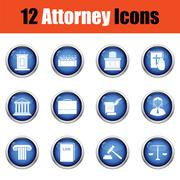 Set of attorney  icons. Stock Illustration