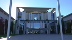 German Chancellery - Bundeskanzleramt Berlin Stock Footage