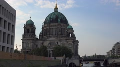 Berlin Cathedral church called Berliner Dom Stock Footage