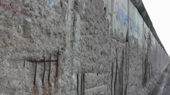 Berlin Wall Memorial - Original Berliner Mauer Stock Footage